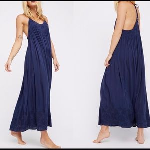 "NWT Free People ""Elaine"" strappy halter maxi dress"